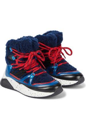 Stella McCartney Drenge Støvler - Fleece-trimmed ankle boots