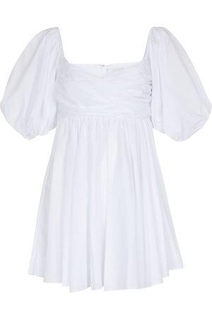 Caroline Constas Brie cotton-blend poplin minidress