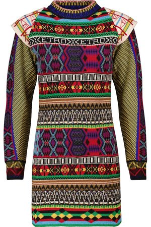 Etro Intarsia wool-blend sweater dress