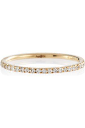Ileana Makri Thread Band 18kt gold ring with diamonds