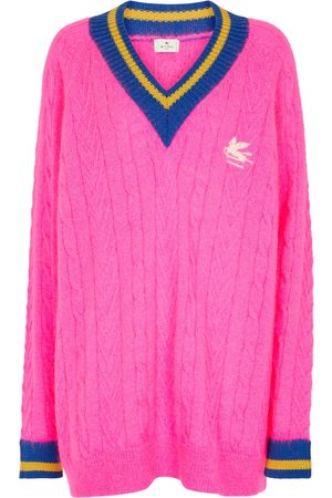 Etro Cable-knit mohair-blend sweater
