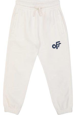 Off-White Kids Logo cotton sweatpants