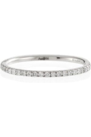 Ileana Makri Thread Band 18kt white gold ring with diamonds