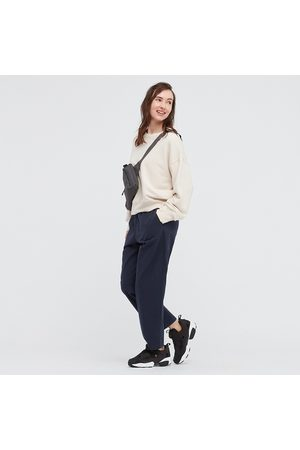 UNIQLO Women Cotton Relaxed Fit Ankle Length Trousers