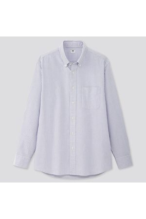 UNIQLO Men Regular Fit Striped Oxford Shirt (Button-Down Collar)