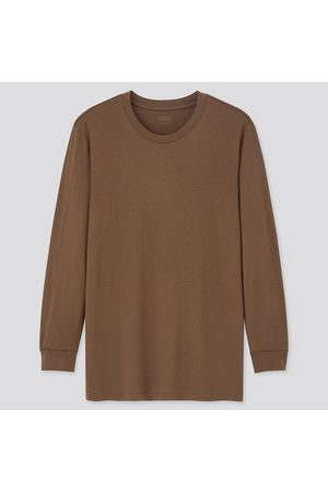 UNIQLO Mænd Toppe - Men HEATTECH Jersey Crew Neck Thermal Top