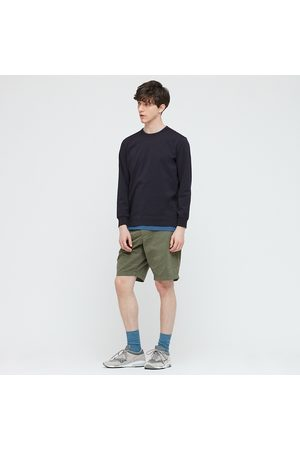 UNIQLO AIRism Cotton Crew Neck Long Sleeved T-Shirt