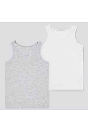 UNIQLO Babies Toddler AIRism Cotton Blend Inner Vest Top (Two Pack)