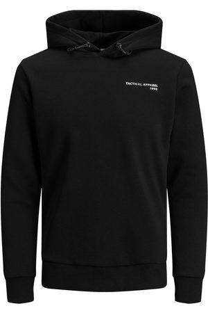 JACK & JONES Mænd Sweatshirts - Loopback Logo Hoodie Mænd Black; Green