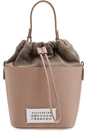 Maison Margiela 5ac Bucket Grained Leather Bucket Bag