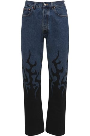 Vetements Mænd Straight - Black Fire Straight Leg Denim Jeans