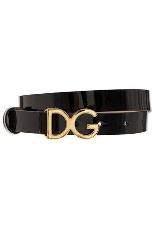 Dolce & Gabbana Drenge Bælter - Logo Buckle Leather Belt