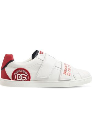 Dolce & Gabbana Drenge Sneakers - Embellished Leather Strap Sneakers