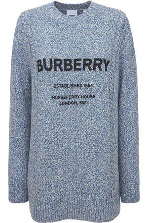 Burberry Kvinder Strik - Mabel Logo Wool & Cotton Knit Sweater