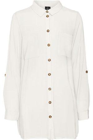 VERO MODA Oversize Skjorte Kvinder White
