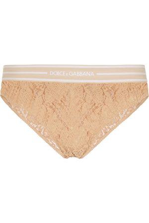 Dolce & Gabbana Logo lace briefs