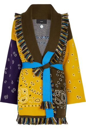 Alanui Kvinder Cardigans - Bandana jacquard cashmere-blend cardigan
