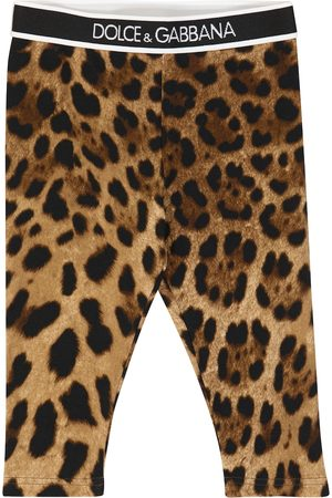 Dolce & Gabbana Baby leopard-print stretch-cotton leggings