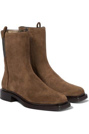 Brunello Cucinelli Kvinder Ankelstøvler - Suede ankle boots