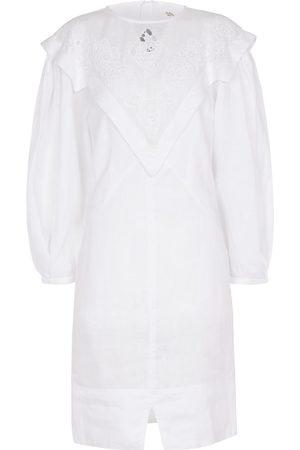 Isabel Marant Elysian embroidered linen minidress