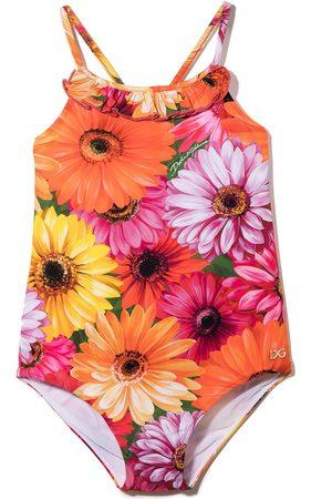Dolce & Gabbana Piger Badedragter - Blomstret badedragt med krydsende stropper