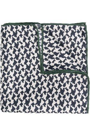 Canali Mænd Tørklæder - Silketørklæde med abstrakt tryk