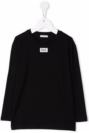 Dolce & Gabbana Drenge Langærmede - Langærmet T-shirt med logomærke