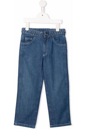 Chloé Braided-waist straight-leg jeans