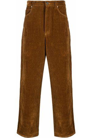 Jacquemus Mænd Bukser - Straight-cut velvet-effect trousers
