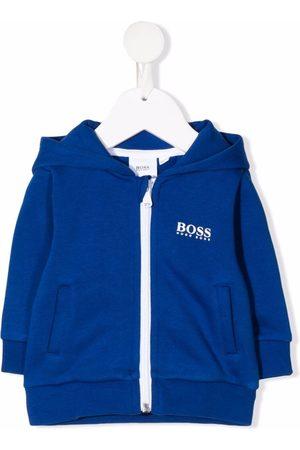 HUGO BOSS Baby Hoodies - Hættetrøje med logotryk og lynlås