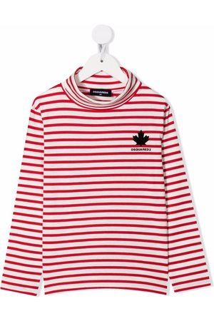 Dsquared2 Piger Toppe - Stripe-print roll-neck top