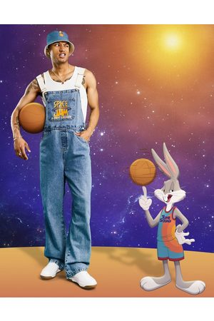 ASOS Space Jam: A New Legacy - Baggy overalls i denim