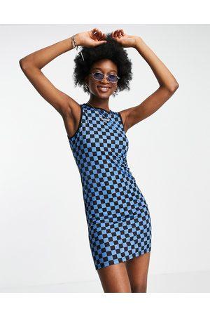 ASOS DESIGN Kvinder Bodycon kjoler - Bodycon-minikjole i og sorte i skaktern