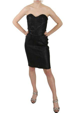 John Richmond Leather Sheath Bodycon Gown Dress