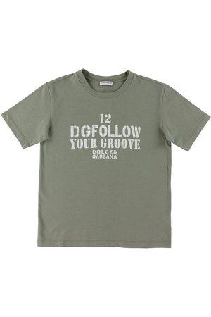 Dolce & Gabbana Kortærmede - T-shirt - DG Skate - Green Military