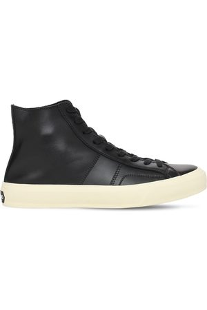 Tom Ford Cambridge Leather High Top Sneakers