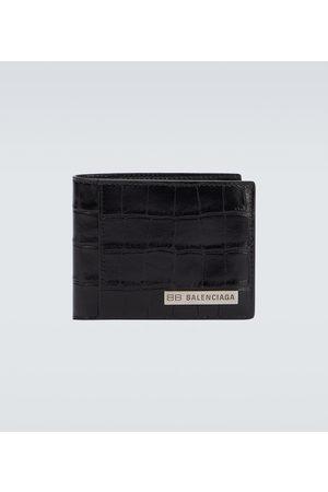 Balenciaga Plate square folded leather wallet