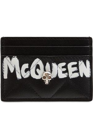 Alexander McQueen Quilted Nappa Graffiti Card Holder