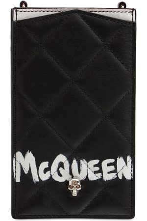 ALEXANDER MCQUEEN Kvinder Mobil Covers - Quilted Leather Phone Case W/ Chain