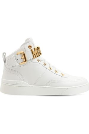 Moschino 35mm Basket Leather High-top Sneakers
