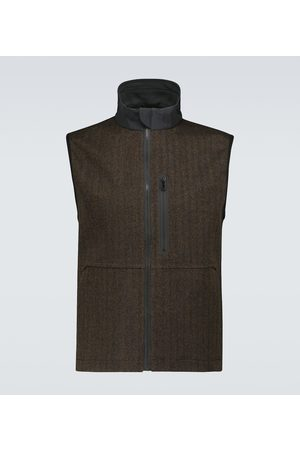 Sease V-12 laminated wool vest