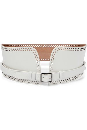Alaïa Laser-cut leather corset belt