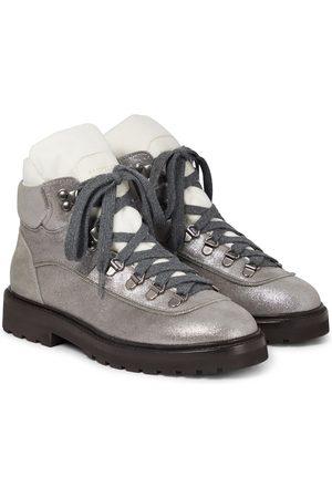 Brunello Cucinelli Metallic ankle boots