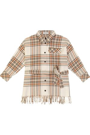 Brunello Cucinelli Piger Toppe - Checked cotton flannel shirt