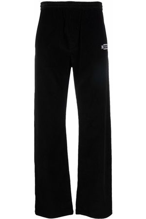 MARCELO BURLON Mænd Joggingbukser - COUNTY FOLK CORDUROY PANTS BLACK WHITE