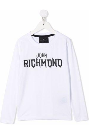 John Richmond Junior Drenge Langærmede - Logo print long sleeved T-shirt