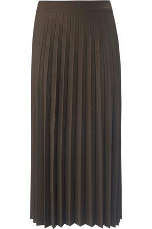Peter Hahn Kvinder Plisserede nederdele - Plisseret nederdel glat linning foran Fra grøn