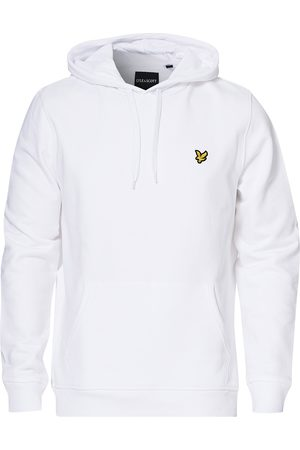 Lyle & Scott Mænd Sweatshirts - Organic Cotton Pullover Hoodie White