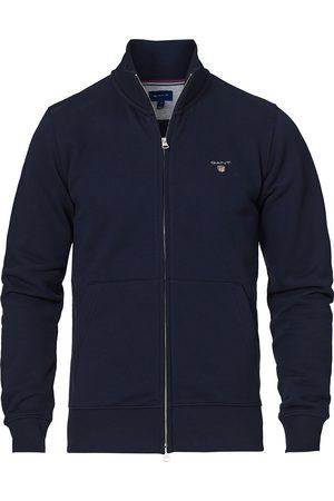 GANT Original Full Zip Cardigan Evening Blue