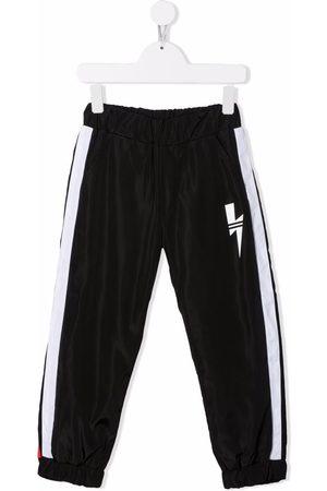 Neil Barrett Drenge Joggingbukser - Thunderbolt-print track pants